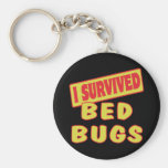 I SURVIVED BED BUGS BASIC ROUND BUTTON KEYCHAIN