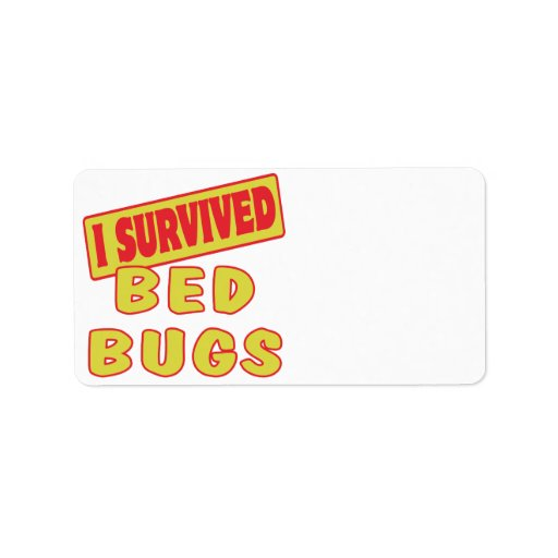 I SURVIVED BED BUGS LABEL
