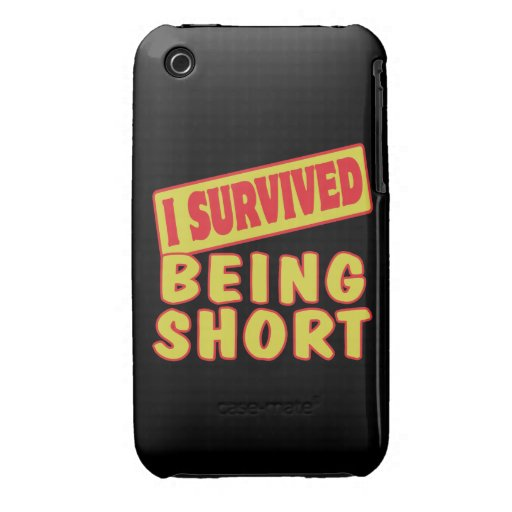 I SURVIVED BEING SHORT iPhone 3 Case-Mate CASE