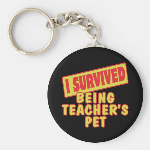 I SURVIVED BEING TEACHERS PET KEYCHAINS