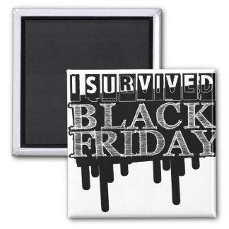 I Survived BLACK FRIDAY 2 Inch Square Magnet