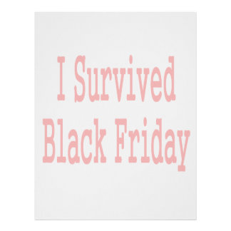 I survived Black Friday! In red text Letterhead Template