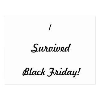 I survived Black Friday! Postcard