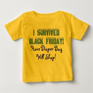 I Survived Black Friday! Snowcap Font Baby T-Shirt