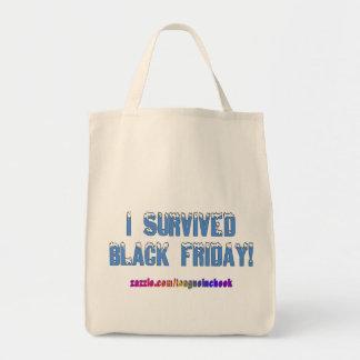 I Survived Black Friday! Snowcap Font Tote Bag