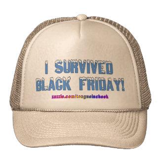 I Survived Black Friday! Snowcap Font Trucker Hat