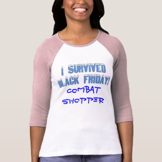 I Survived Black Friday Snowcap Font Tee Shirts