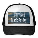 I survived Black Friday! White text design Trucker Hat