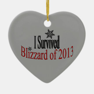 I Survived Blizzard 2013 Ornament