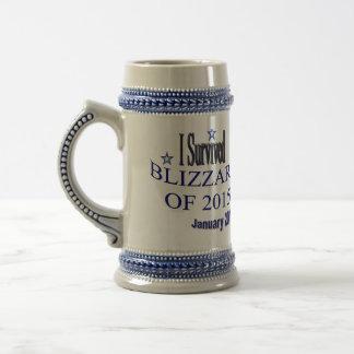 I Survived Blizzard 2015 Stein Mug
