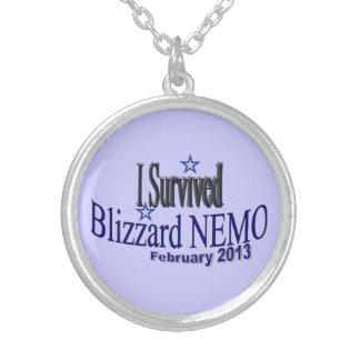 """I Survived Blizzard Nemo 2013"" Necklace"
