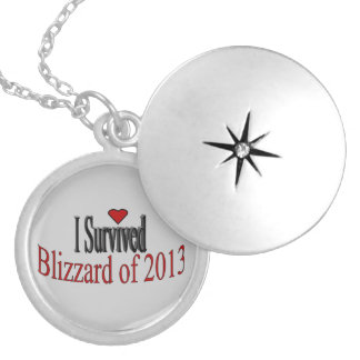 """I Survived Blizzard of 2013"" Locket Necklace"