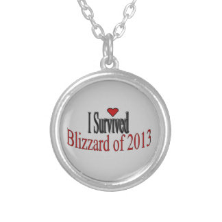 """""""I Survived Blizzard of 2013"""" Necklace"""