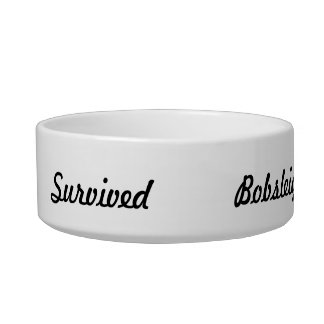 I survived bobsleighing! bowl