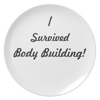 I survived body building! dinner plates