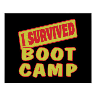 I SURVIVED BOOT CAMP POSTER