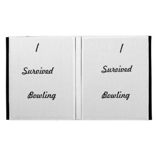 I survived bowling! iPad case