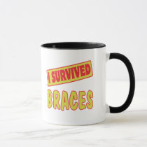 I SURVIVED BRACES MUG