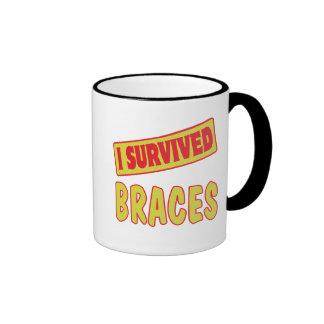 I SURVIVED BRACES RINGER MUG