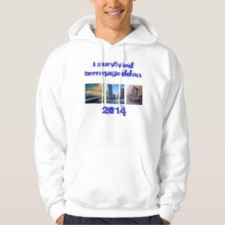I survived brrrmageddon 2014 hoodie