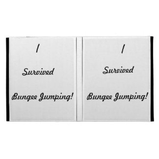 I survived bungee jumping! iPad folio covers