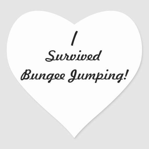I survived bungee jumping! heart sticker