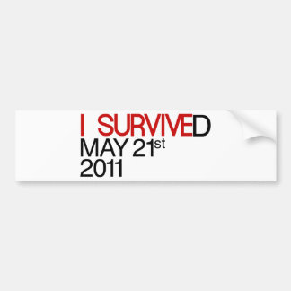I Survived Car Bumper Sticker