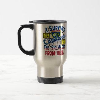I Survived Carmageddon - Interstate 405 15 Oz Stainless Steel Travel Mug