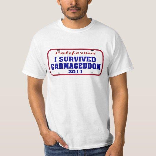 I Survived Carmageddon License Plate T-Shirt