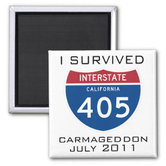 I Survived Carmageddon Magnet