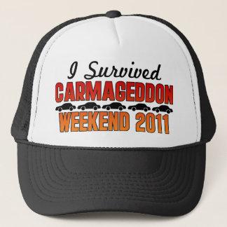 I Survived Carmageddon Weekend 2011 Trucker Hat
