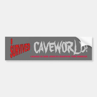 I SURVIVED CAVEWORLD! BUMPER STICKER