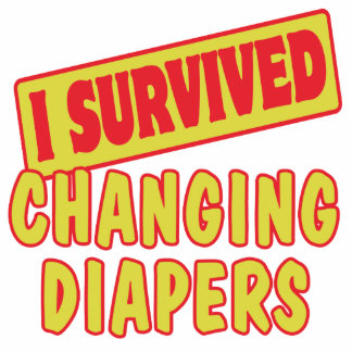 I SURVIVED CHANGING DIAPERS PHOTO SCULPTURE KEYCHAIN