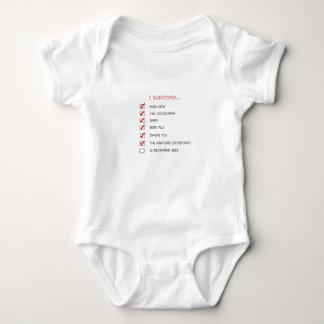 I Survived Checklist Baby Bodysuit