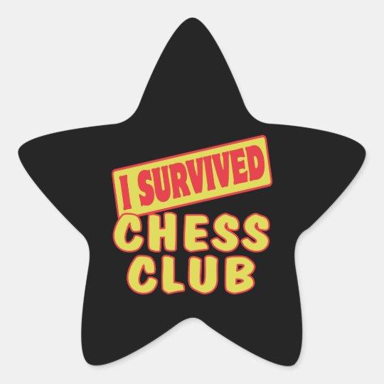 I SURVIVED CHESS CLUB STAR STICKER