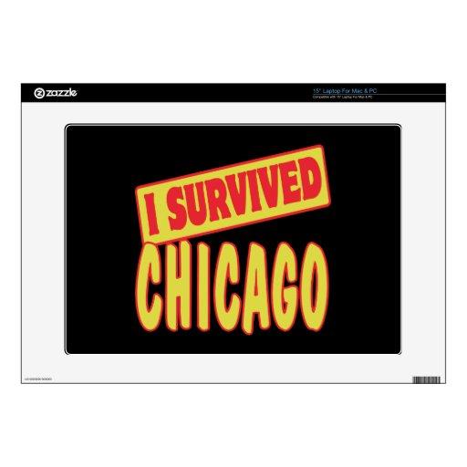 I SURVIVED CHICAGO SKIN FOR LAPTOP