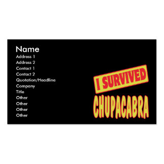 I SURVIVED CHUPACABRA BUSINESS CARDS