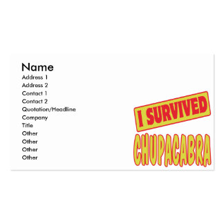 I SURVIVED CHUPACABRA BUSINESS CARD TEMPLATES