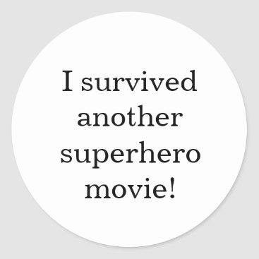 Beach Themed I survived classic round sticker