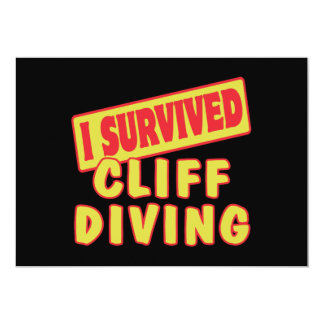 I SURVIVED CLIFF DIVING 5X7 PAPER INVITATION CARD