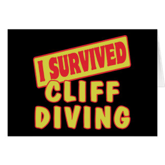 I SURVIVED CLIFF DIVING GREETING CARD