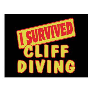 I SURVIVED CLIFF DIVING POSTCARD