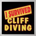 I SURVIVED CLIFF DIVING PRINT