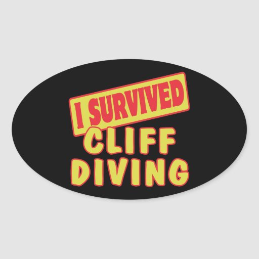 I SURVIVED CLIFF DIVING STICKERS