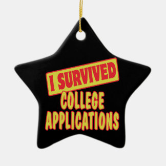 I SURVIVED COLLEGE APPLICATIONS Double-Sided STAR CERAMIC CHRISTMAS ORNAMENT