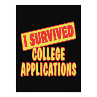 I SURVIVED COLLEGE APPLICATIONS ANNOUNCEMENT