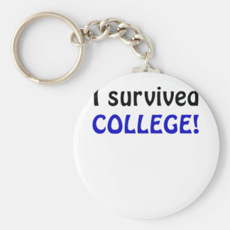 I Survived College Keychains