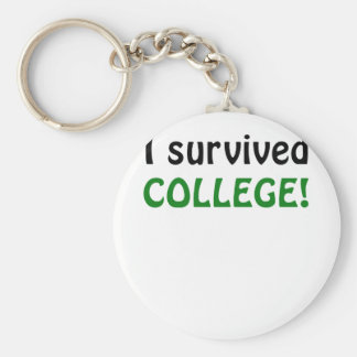 I Survived College Keychain