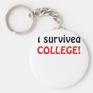 I Survived College Key Chains