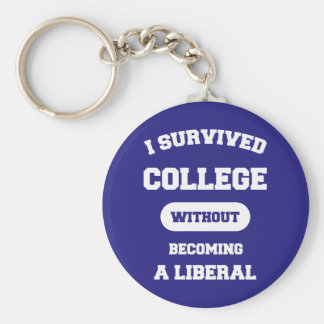 I Survived College Without Becoming A Liberal Keychain